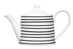 Mustavalkoraitainen teekannu Maku tilavuus 1,2l