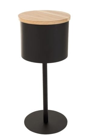 Leonie pyöreä sivupöytä musta